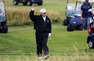 Donald Trump tiene su propio campo de golf. Foto AP