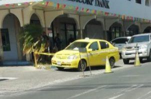 El pasajero del taxi es un ciudadano de 19 años. Foto/José Vásquez