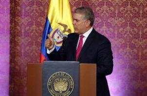El presidente colombiano Iván Duque criticó  a Nicolás Maduro. FOTO/EFE