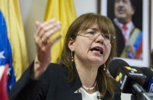La embajadora venezolana, Carol Delgado. EFE