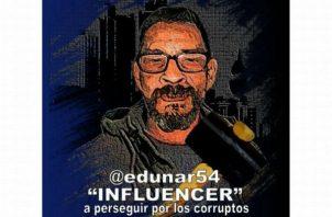 Eduardo Narváez fue multado con 5 dólares por criticar al presidente Juan Carlos Varela. Foto: @Edunar54.