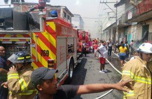 El bombero falleció luego que le cayeran varios escombros en un incendio en El Chorrillo. Foto: Bomberos de Panamá.
