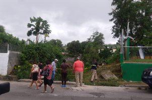 La Policía Nacional realizó operativos en las áreas adyacentes a la escena del crimen en El Crisol, el pasado 15 de septiembre. Foto diario Crítica