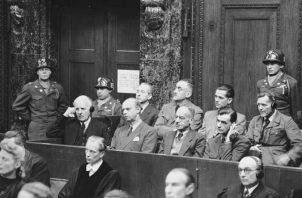 Acusados durante uno de los Procesos de Núremberg, conocido como Juicio de los Ministros. Foto: Wikipedia