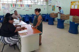 En tres corregimientos del país se estarán realizando votaciones de desempate en este domingo. Foto de archivo