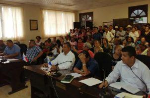 Reunión del Consejo Municipal de San Carlos. Foto: Panamá Oeste.