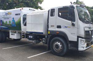 Primer camión de la flota fue presentado. Foto: Diómedes Sánchez S.