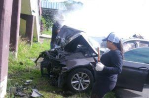 Investigan las causas de este accidente de tránsito. Foto/Mayra Madrid