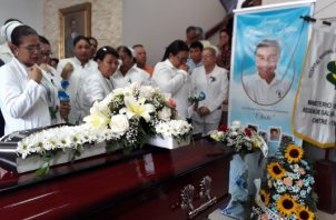 Entre lágrimas los compañeros y familiares exigieron justicia para Francisco Trejos, Foto/Thays Dominguez