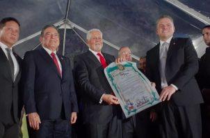 El expresidente Ernesto Pérez Balladares fue declarado Hijo Meritorio de la ciudad de Panamá. Foto: Víctor Arosemena