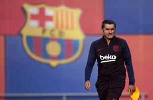 Ernesto Valverde técnico del Barcelona. Foto:EFE