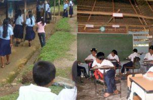 En una misma aula, los docentes deben atender a estudiantes de varios grados. Ilustración de Panamá América