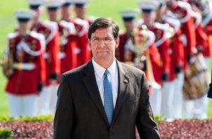 Secretario de Defensa de EE.UU., Mark Esper.FOTO/AP