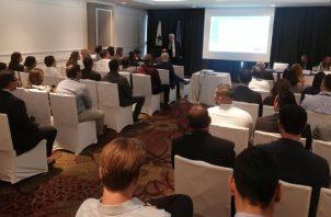 Durante la presentación de la Estrategia Nacional de Movilidad Eléctrica. Foto de cortesía