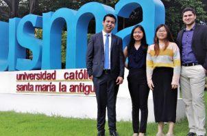Participantes: Diego Ortega, Erika Zhong, Elisa Luo y Julio R. Solís. Cortesía