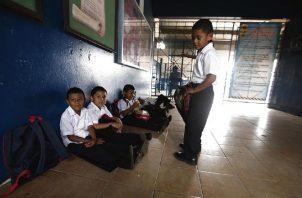 A pesar de que el Meduca dice que son solo 25 escuelas con problemas, no han dado la lista de ellas. Foto: Panamá América