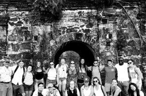 Un grupo de estudiantes de la Universidad de Nebraska, en su visita al Canal de Panamá y al Fuerte San Lorenzo en Colón, en enero de 2019.. Foto: Cortesía del autor.