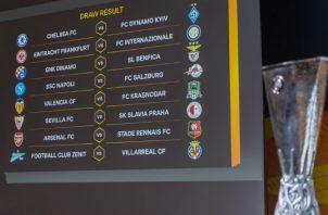 Las llaves del sorteo en la  Europa League. Foto:AP