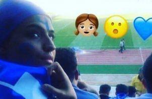 """Sahar Jodayarí era conocida como la """"chica azul""""."""