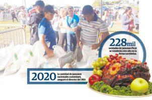 Todas las semanas los panameños tienen que formar largas filas para comprar productos en las ferias del IMA.