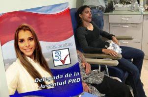 Una activista del PRD hizo viral un video, tras protesta en Azuero. /Foto Twitter.