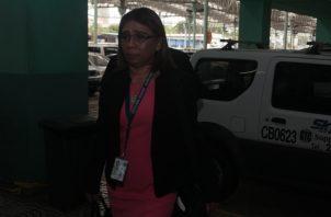 Fiscal Elizabeth Carrión, quien fue multada por revelar el nombre del testigo protegido. Foto de Víctor Arosemena.