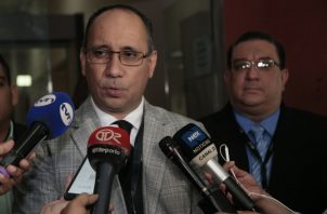 Aurelio Vásquez, fiscal del Ministerio Público. Víctor Arosemena