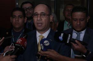 Fiscal Aurelio Oliver Vásquez, quien ha tomado la vocería por parte del Ministerio Público en el juicio oral seguido a Ricardo Martinelli.