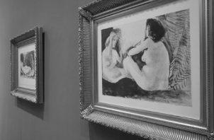 """Grabados de la colección """"La flaura doble"""" del pintor español Pablo Picasso, en Lima, Perú, el 30 de enero de 2017. Foto: EFE"""