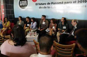 """El foro con el tema """"El futuro de Panamá para el 2019 desde la óptica de los jóvenes"""" abordó temas de interés."""
