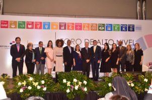 """""""Los ODS: Asuntos de todos, unidos lo hacemos, combate a la pobreza y a la desigualdad"""", fue el lema del Foro. Foto: MEF."""