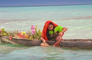 En sus fotografías Lois Iglesias capta escenas cotidianas de la vida en su natal Guna Yala. Foto: Lois Iglesias.