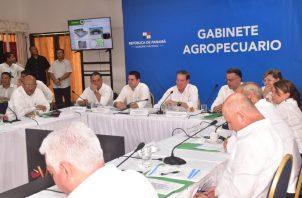 El primer Gabinete Agropecuario se celebró en el distrito de Santiago de Veraguas.