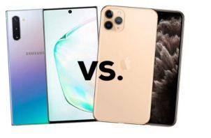 Samsung inició lanzando su nuevo Galaxy Note 10 en agosto y recién la semana pasada Apple lanzó su iPhone 11 Pro.  Foto/Cortesía