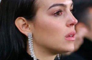 Georgina Rodríguez vio el partido en directo.