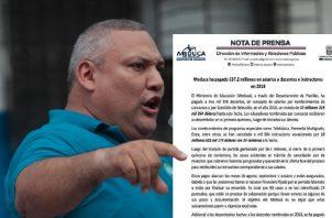 Asoprof  reclama deuda millonaria; Meduca defiende sus pagos. /Foto Twitter