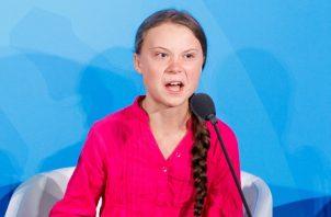 La joven Greta Thunberg, llamó la atención por su contundente discurso sobre el Cambio Climático. FOTO/AP