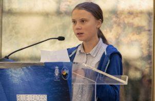 Greta Thunberg, presentó un contundente discurso ante los líderes mundiales haciendo un llamado para frenar la destrucción del planeta. FOTO/AP