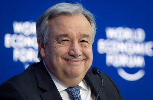 Antonio Gueterrez, secretario general de la ONU, también discutió sobre Venezuela en Davos. FOTO/EFE