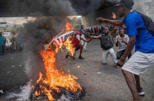 La población haitiana no cree en las promesas del mandatario,  Jovenel Moise. FOTO/EFE