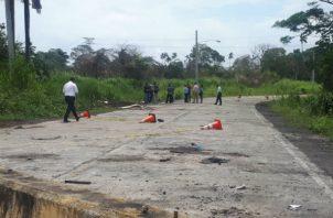 El cuerpo fue hallado en horas de la mañana. Foto: Diómedes Sánchez S.