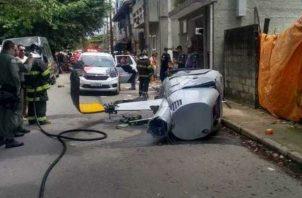 Helicóptero mata a peatón en Brasil. Foto/Redes Sociales