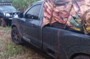 Los atraparan en la propiedad del productor de yucas, Foto/Cortesía Policía Nacional