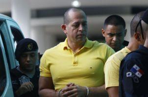 Hidadi Santos Saavedra al ingresar a una de las audiencias en el Sistema Penal Acusatorio. Foto de Edwards Santos