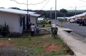 Residencia del electricista asesinado el 25 de diciembre de 2017, en la barriada Jardines de San Cristóbal. Foto:José Vásquez.