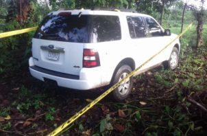 La mujer trató de darse a la fuga en un vehículo tipo camioneta propiedad de la familia y fue capturado horas mas tarde.