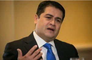 Juan Orlando Hernández, presidente de Honduras. Foto/EFE