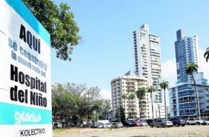 Reclamos afectan inicio en la construcción del nuevo Hospital del Niño. Foto: Panamá América.