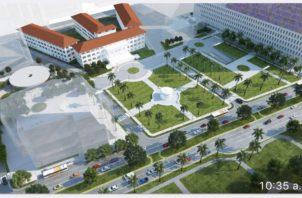 Concepto del nuevo hospital, revelado por el ministro de Salud. /Foto Twitter