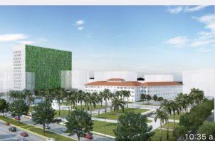 Concepto del nuevo Hospital del Niño. Foto de archivo
